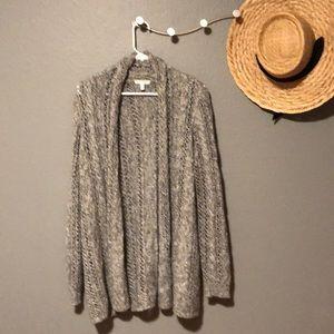 Like new Sparkly grey knit cardigan